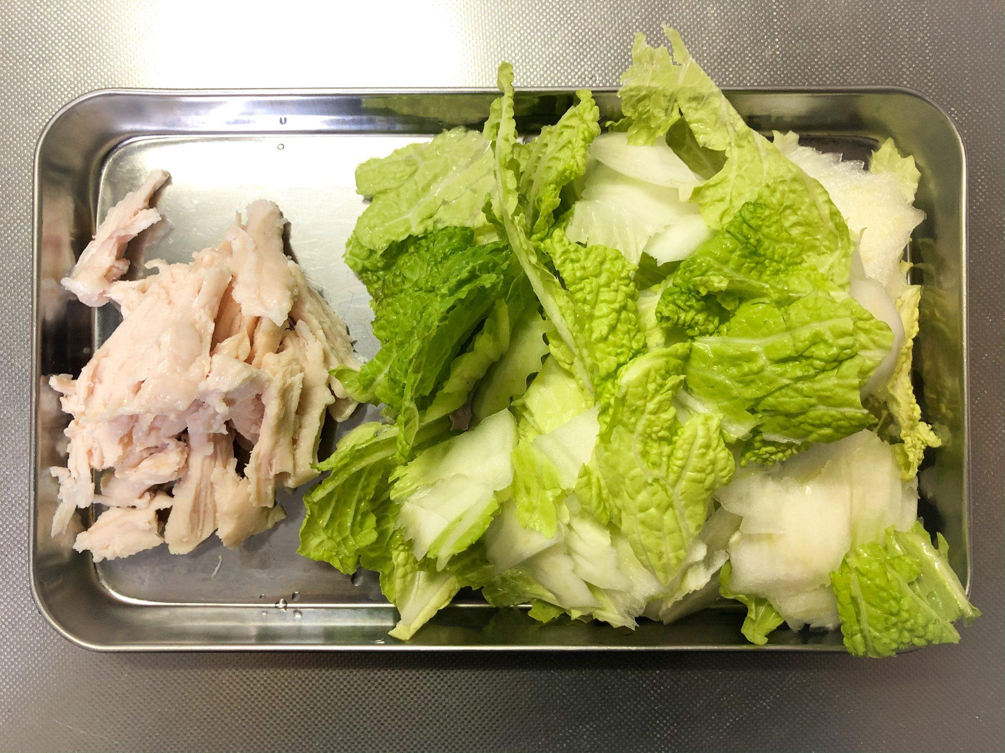 チキンと白菜