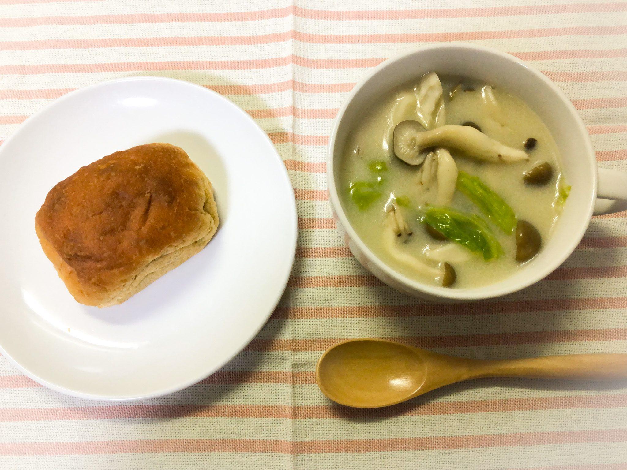 ブランパンとスープ