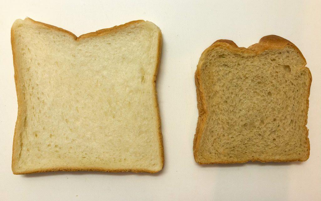 食パンとの対比