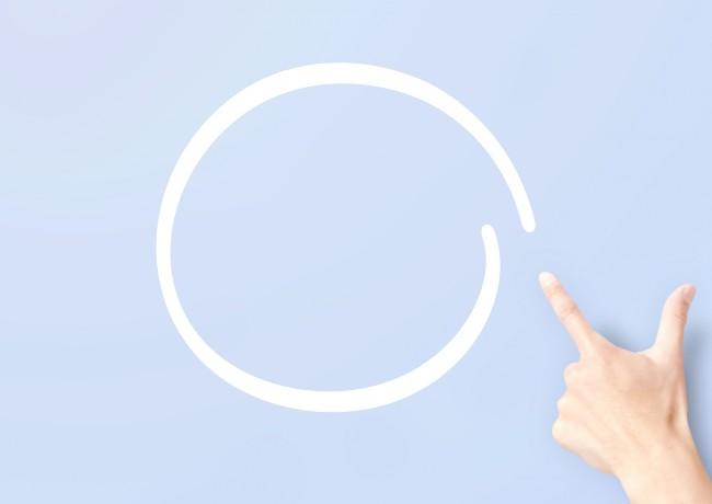 指で描いた丸